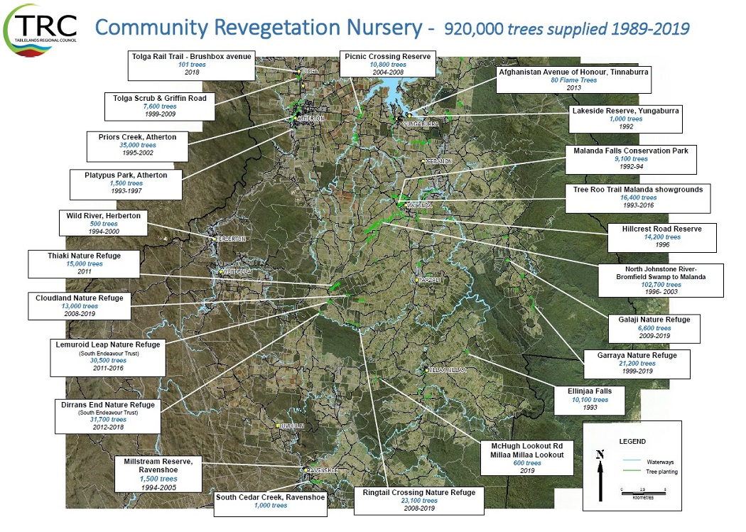 revegetation history of atherton tableland