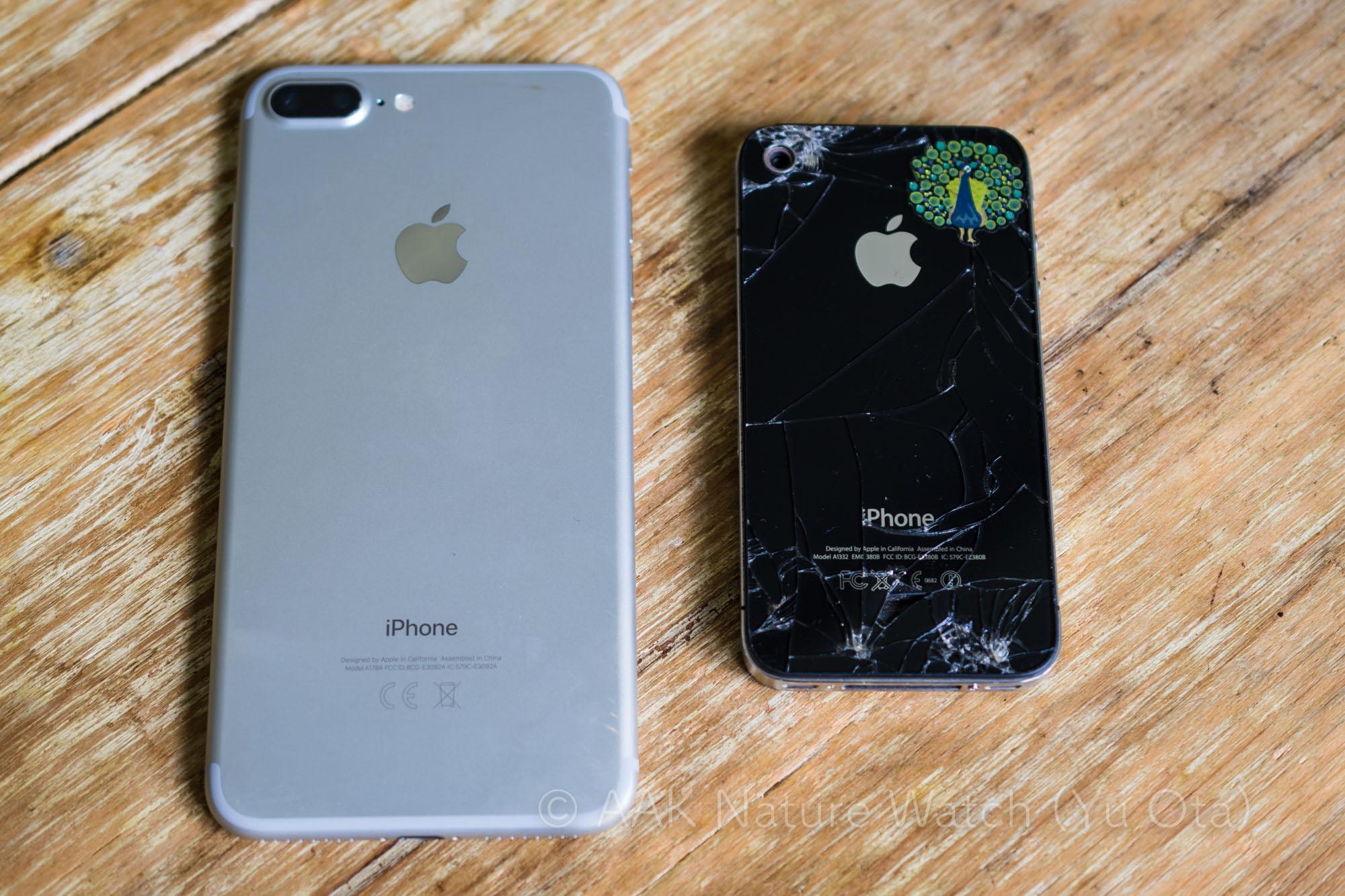 iphone7plusとiphone4